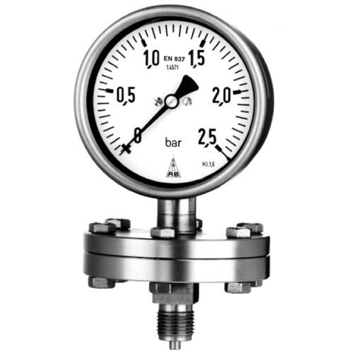 Industrielle Manometer mit horizontaler Blattfeder, einschließlich Elektrokontakt