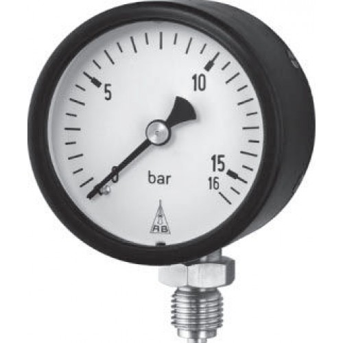 Industrial Vertical Plate Spring Pressure Gauges