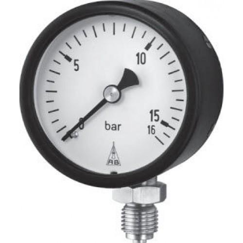 Industrielle Manometer mit vertikaler Blattfeder