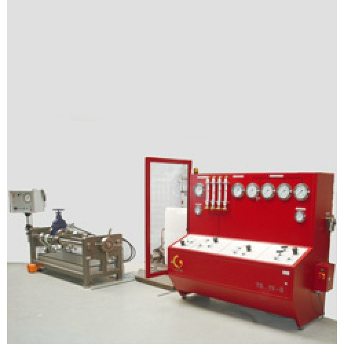 HORIZONTALLY FIXED VALVE TEST BENCHES
