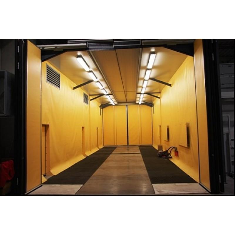 Durchgangsstrahlkammer mit Schiebedach
